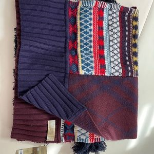 Burberry wool cashmere patchwork scarf